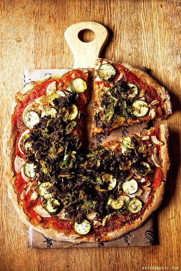 Pizza végétalienne au levain - Antigone XXI