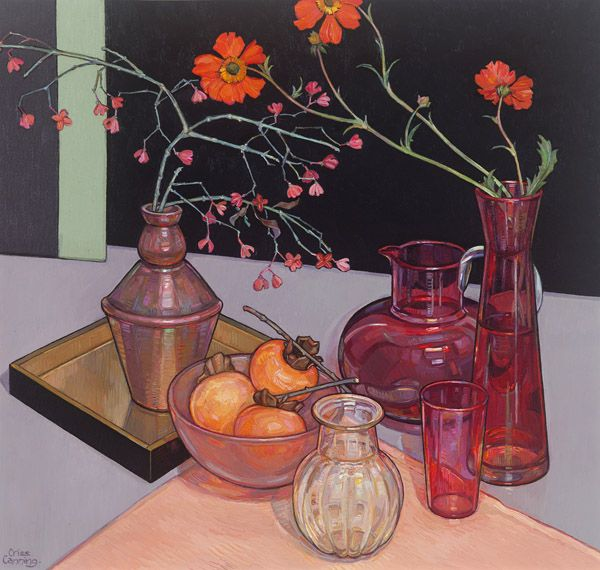 Pink Glass and Persimmon Criss Canning