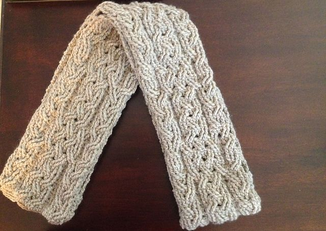 [Free Pattern Until 2/2/2016] Lovely Crochet Cable Scarf Pattern