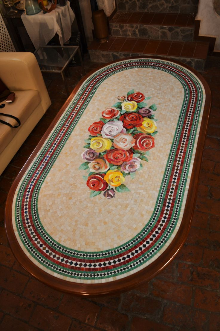 Mosaico Arte e Mestieri, mosaic table for garden or livingroom, glass mosaic and wood. #mosaictable