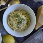 This sounds just like a dish I used to make, and is delish!  You can also leave out the cream, add extra olive oil and eat cold as a pasta salad...perfect for hot summer days!