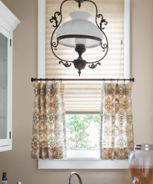 Classic 1 Pleated Shades Layered With Cafe Curtains From Smith Noble In This Kitchen