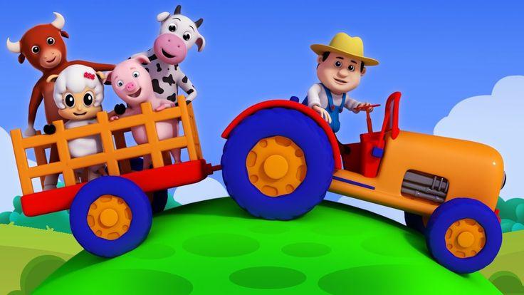 Old MacDonald had a farm | Nursery rhymes | 3D rhymes | Children song by...