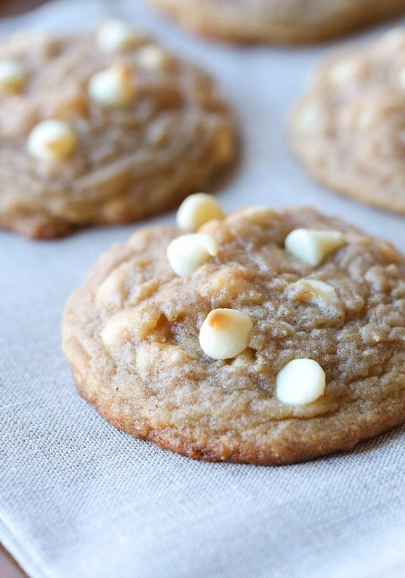 These Soft Brown Sugar Cinnamon Cookies with white chocolate chips are so over the top delicious, they're guaranteed to be your new favorite!