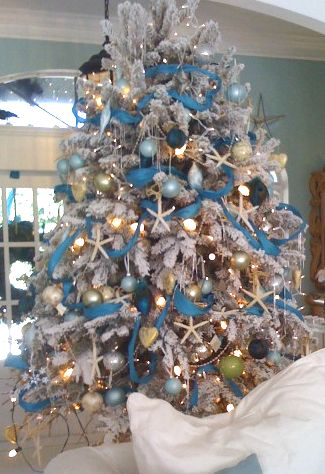 25 coastal christmas holiday trees inspired by the sea perfect christmas tree for the seaside or beach house - Beach Themed Christmas Decorations
