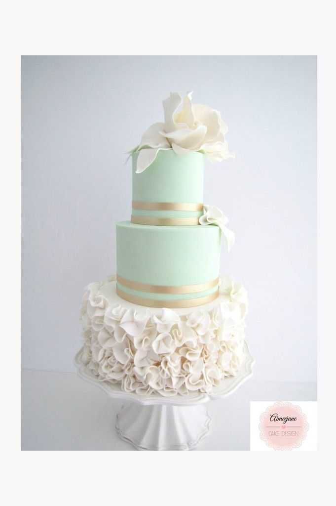 Simple Yet Elegant Wedding Ideas : Best ideas about mint wedding cake on pastel pink petal cakes green big