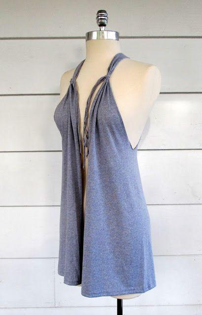 Grey, No Sew Vest