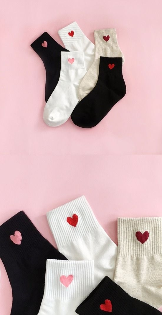 Popular Korean Accessories and Hairstyles in Korea      Heart rings            Heart fashion socks      Cute cactus nails     Studded ...
