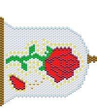 ガラスケースのバラ
