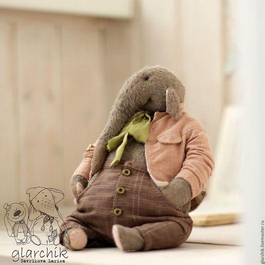 Мишки Тедди ручной работы. Заказать слон Кардамон. glarchik Лариса. Ярмарка Мастеров. Авторская работа, вискоза, шёлковая лента