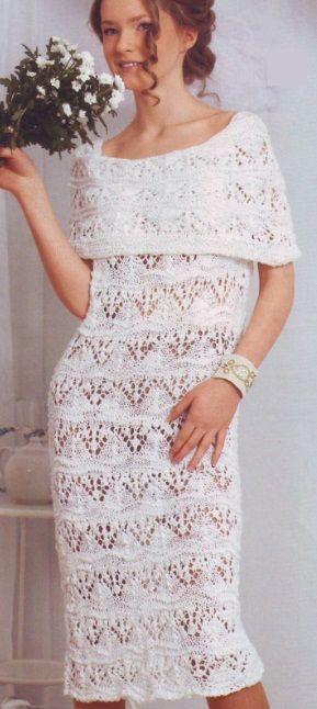 Связать ажурное платье