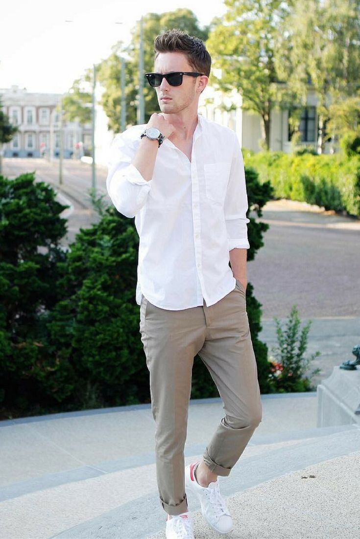 White t shirt fashion tips -  Mens Fashion Style