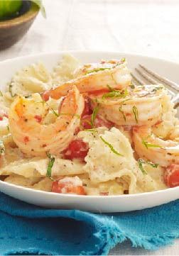 Creamy Tomato-Basil Pasta with Shrimp – This quick and easy pasta recipe tastes like it came straight from a restaurant it's so good. The best part, it takes less than 30 minutes to make!