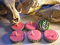 Bottle cap candles - start saving them now.  May need for casual summer gathering or possible wedding reception