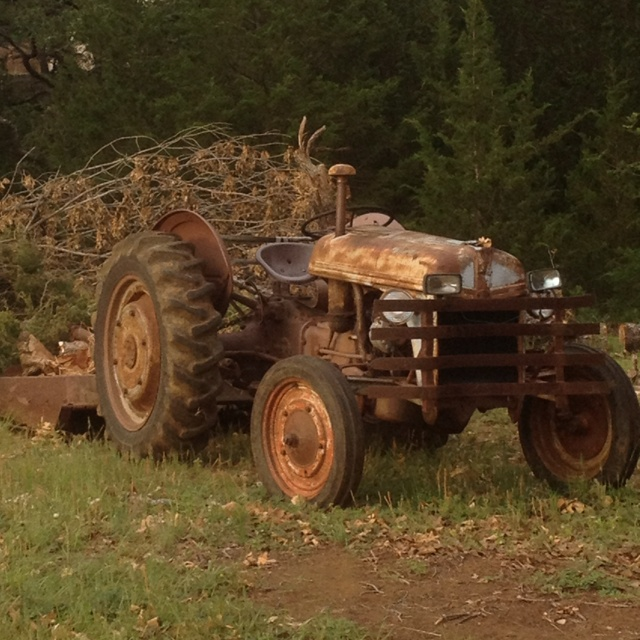 An old tractor, not exactly like ours looked, but similar.