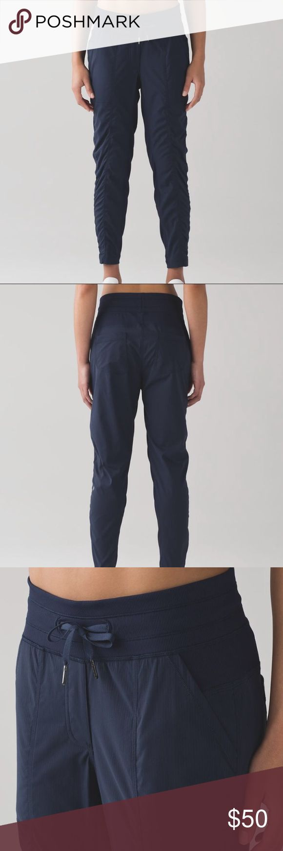 Lululemon Athletica Street to Studio Pant ll Lightweight pants for exercise or on the go. Unlined with 28'' inseam. Gently used. lululemon athletica Pants