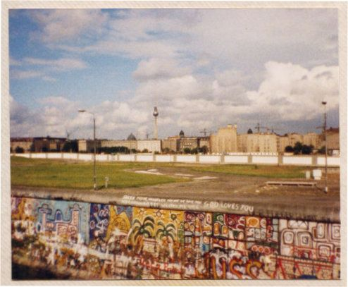A view across the death strip, seen from West Berlin.