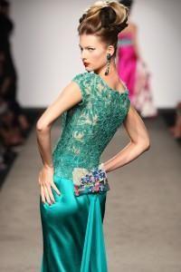 abito verde smeraldo Raffaella Curiel