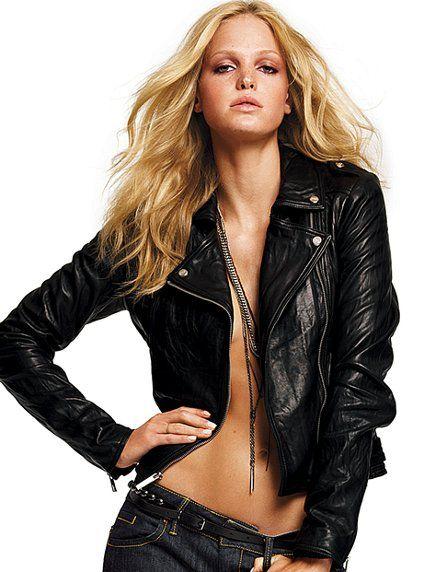 Leather, Leather, Leather!: Black Leather Jackets, Biker Jackets, Clothing, Fashion Styles, Erin Heatherton, Leather Motorcycles Jackets, Victoria Secret, Motorcycle Jackets, Moto Jackets