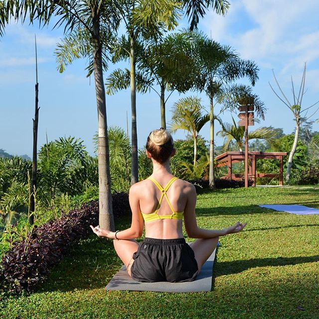 🌴🙏 Sunrise yoga was the perfect way to start the morning at Padma Resort Ubud…