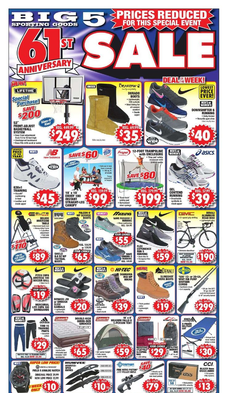 Big 5 Ad September 25 - October 1, 2016 - http://www.olcatalog.com/sports-toys/big-5-weekly-ad.html