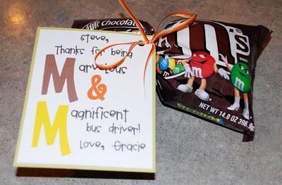 M & M Teacher Gift