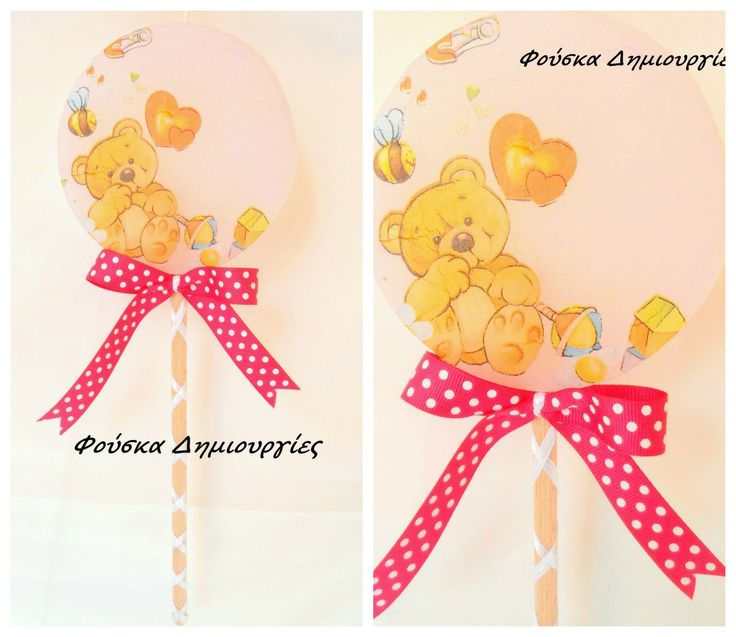 Easter candle lollipop with decoupage.