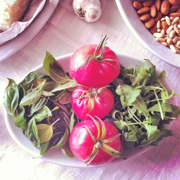 Home grown tomatoes and rocket. For more Italian inspiration visit my blog http://mozzarelladiaries.blogspot.it/