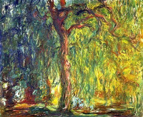 Claude Monet, Weeping Willow (1918–19) on ArtStack #claude-monet #art