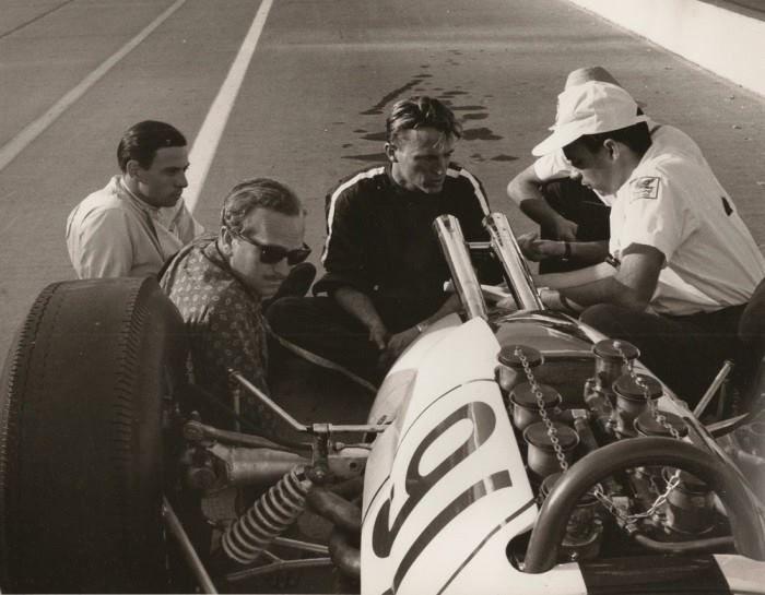 Dan Gurney, Colin Chapman, Jim Clark . . Indy 1963