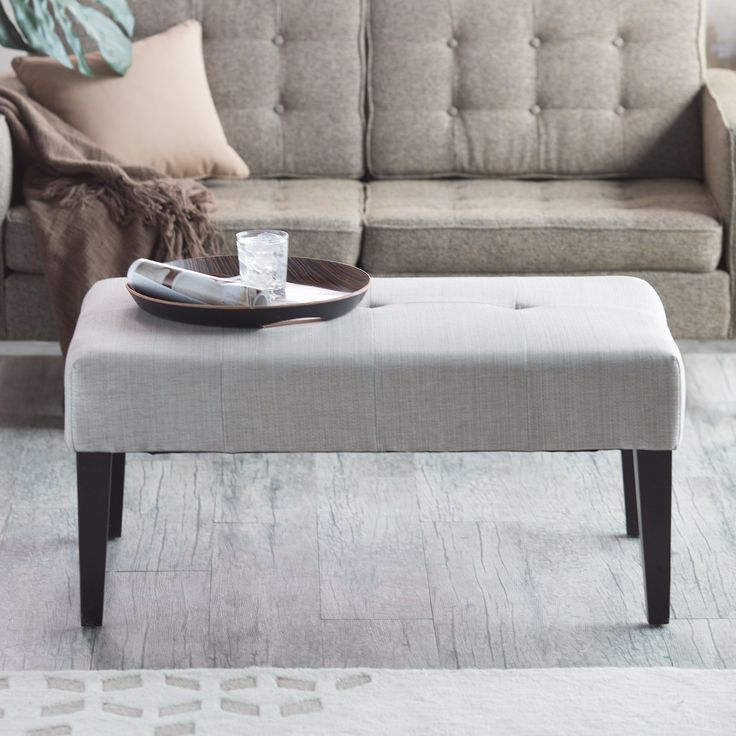 Have to have it. Belham Living Altea Upholstered Coffee Table Bench - Linen Sand - $159.98 @hayneedle