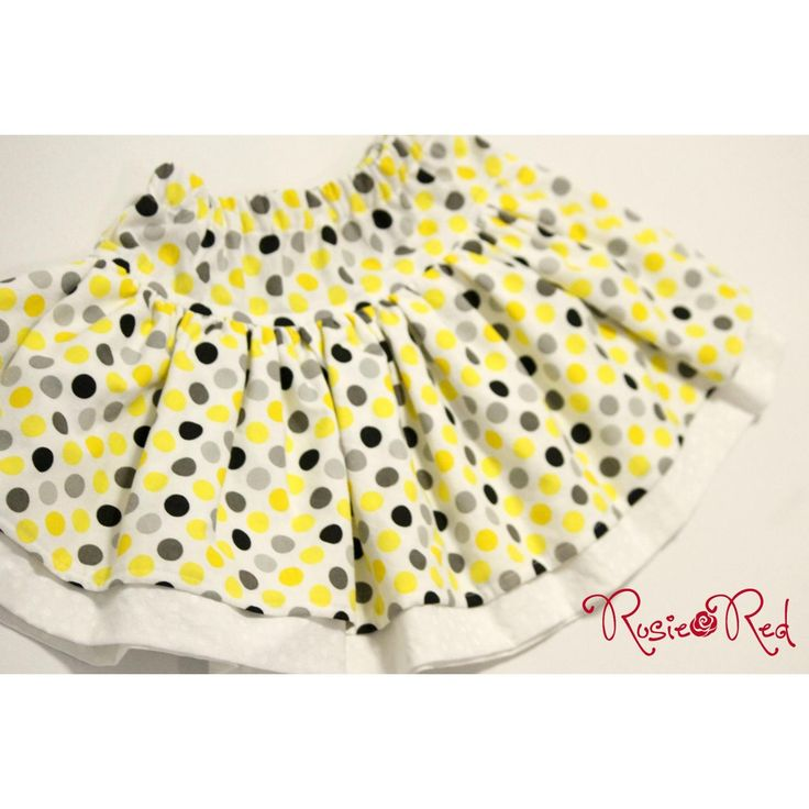 $30.00 SIZE 1 Yellow Spot twirly skirt with underskirt by RosieRed on Handmade Australia