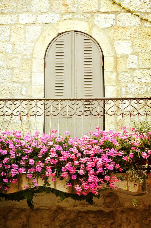 A beautiful balcony in the German Colony of Jerusalem