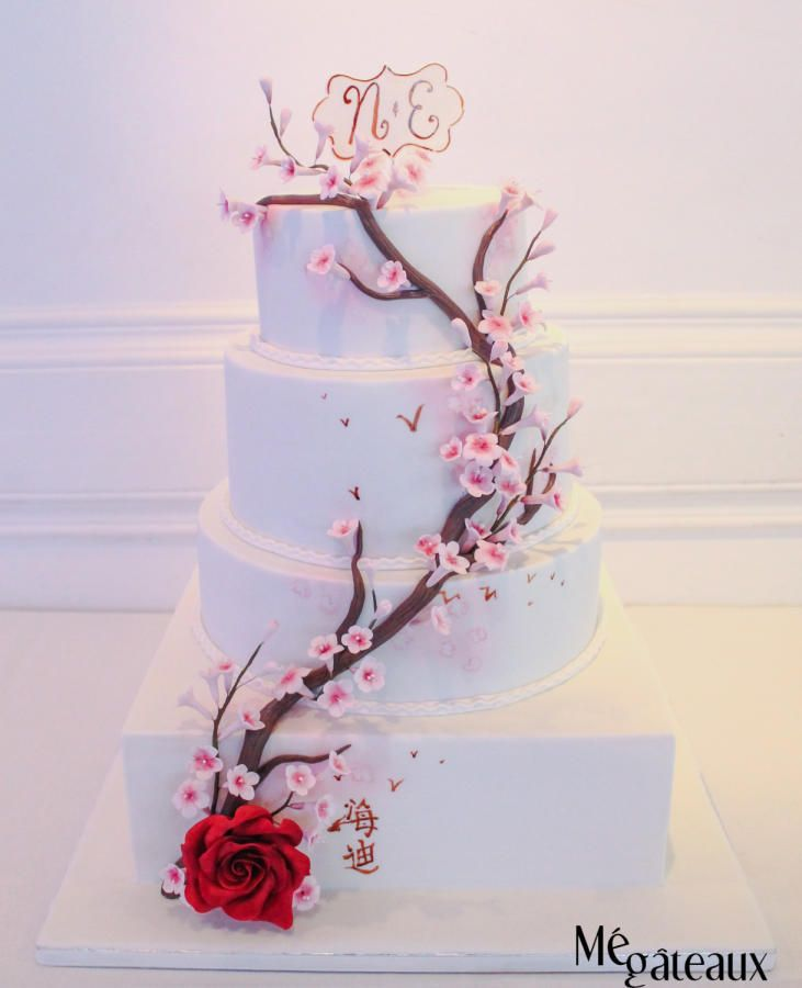 Charming Personalized Wedding Cake Toppers Tall Cheap Wedding Cakes Square Square Wedding Cakes 5 Tier Wedding Cake Old Best Wedding Cake Recipe GreenWedding Cake Cutter 138 Best Cherry Blossom Cakes Images On Pinterest   Cherry Blossom ..