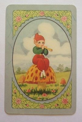 Playing Cards /Swap Card With Pixie ON Mushroom Playing Flute .