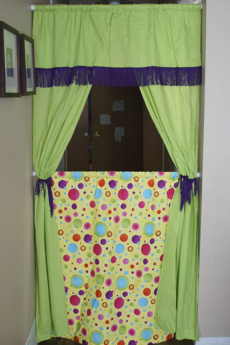 Homemade doorway puppet theatre