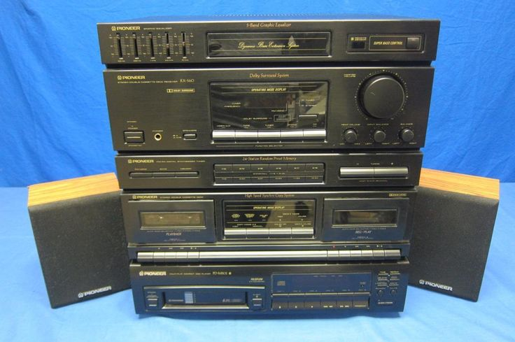 Pioneer Home Stereo System Double Cassette Deck Receiver RX-560 PD-M502