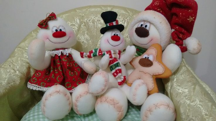 Familia nieves Navidad de Balvy