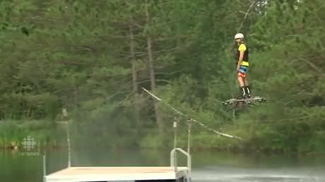 Canadian inventor tests new prototype of record-setting hoverboard