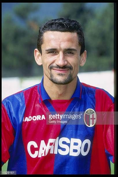 A portrait of Michele Paramatti of Bologna taken during the club photocall Mandatory Credit Allsport UK