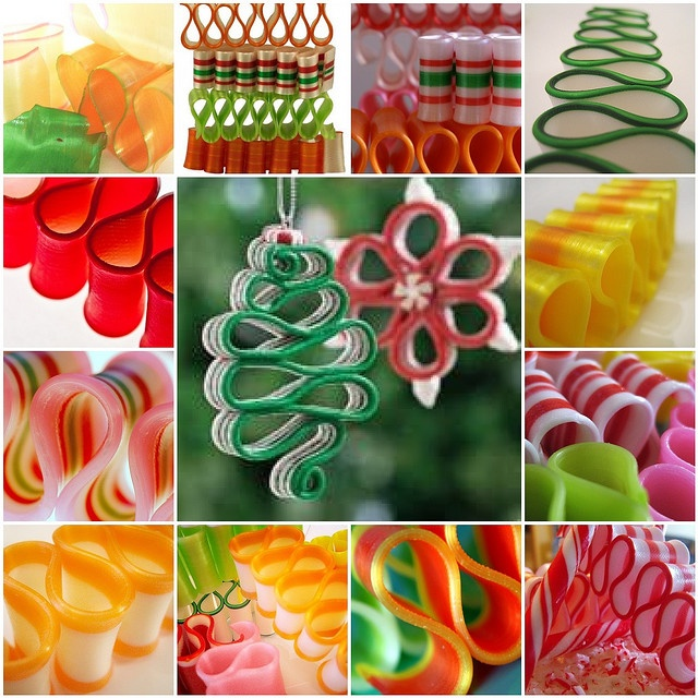 Ribbon Candy  The Party Goddess! Marley Majcher   www.thepartygoddess.com ©  #DIY #ribbon #ornaments