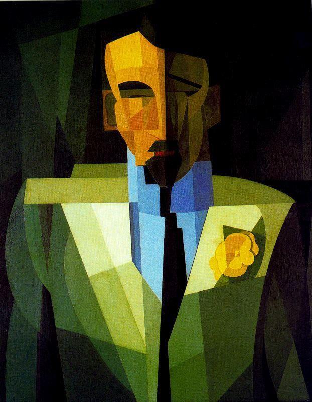El hombre de la Flor Amarilla (1932) Emilio Pettoruti