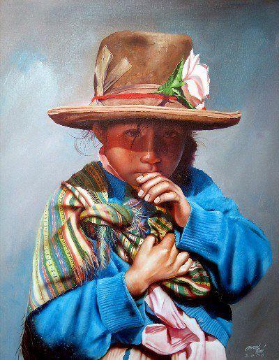Rogger Oncoy   Watercolor Paintings   Peruvian Painter