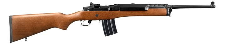 Ruger Mini-14/Ranch Rifle.  If I ever get a high-powered rifle, this is the one that I want.