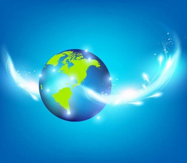 blue planet creative inspiration vector