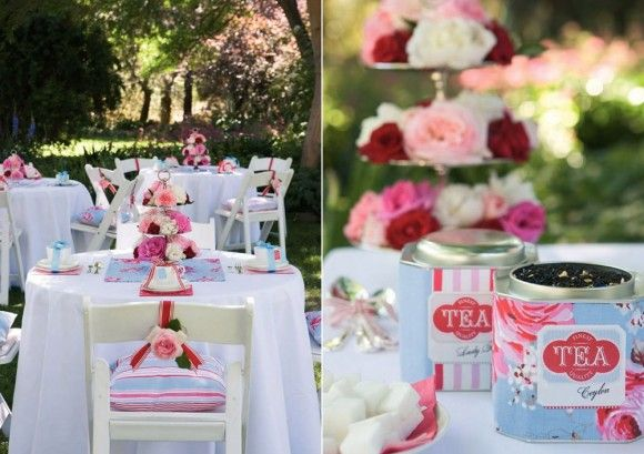 Tea Party Bridal Shower: Birthday Parties, High Tea, Outdoor Parties, Teas Parties Wedding, Parties Ideas, Bridal Shower, Afternoon Teas Parties, Gardens Parties, Parties Theme