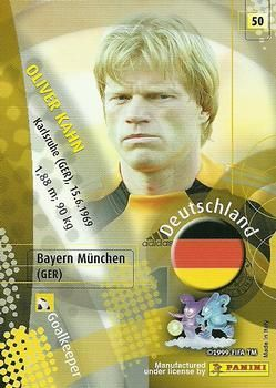 2002 Panini World Cup #50 Oliver Kahn Back