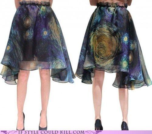 I love Van Gogh. This is an art teacher skirt for sure :-)