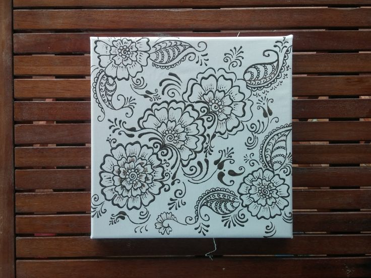 New to TheHennaGrove on Etsy: Henna design painting wall decor (50.00 USD)