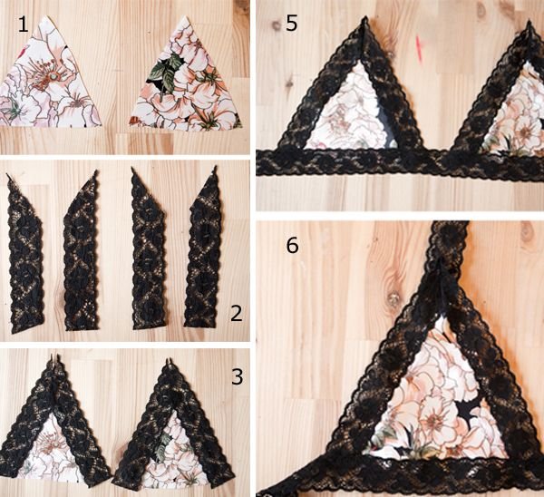 DIY Lace bra